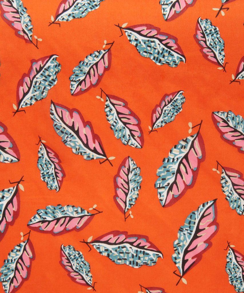 Woven Leaves C by Liberty Art Fabrics