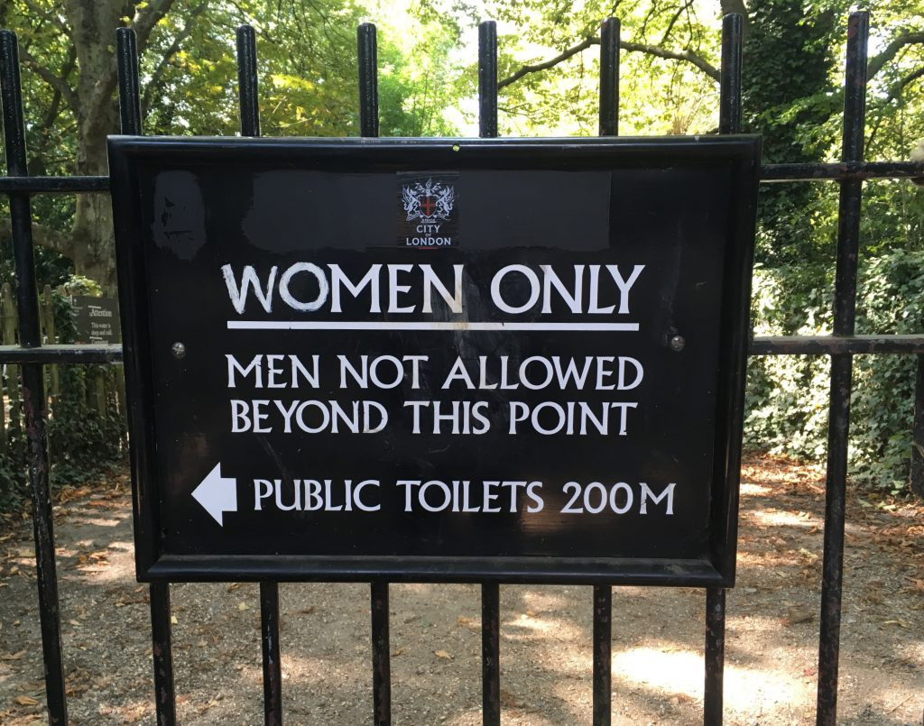 """""""No men! Off to the bogs with you!"""""""