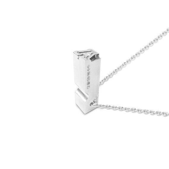 Letterpress pendant, £135, by Roderick Vere
