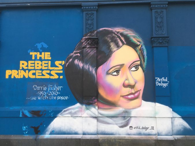 Princess Leia mural in Peckham